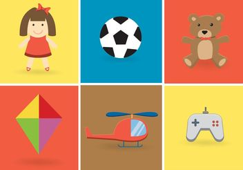 Free Vector Toy Vector Set - Free vector #148875