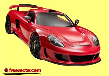 Red Porsche Carrera GT - vector gratuit #149115