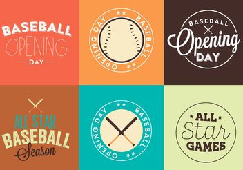 Baseball Opening Day Logo Vector Set - Free vector #149175