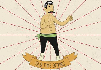 OLD TIME BOXING VECTOR ILLUSTRATION - Kostenloses vector #149205