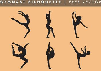 Gymnast Women Silhouette Vector Free - Free vector #149225