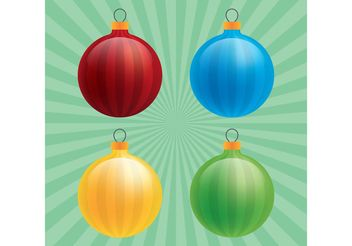 Glossy Christmas Ornament Vectors - Free vector #149275