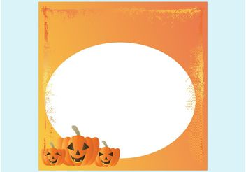 Halloween Card Template - vector gratuit #149305