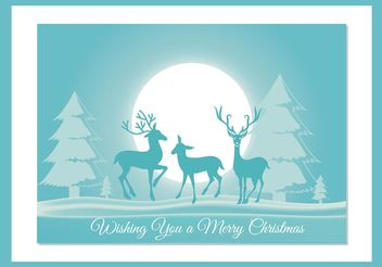 Christmas Vector Card - Free vector #149315