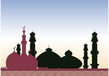 Mosque Vector - vector gratuit #149465
