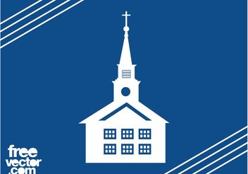 Church Building Silhouette - vector #149485 gratis