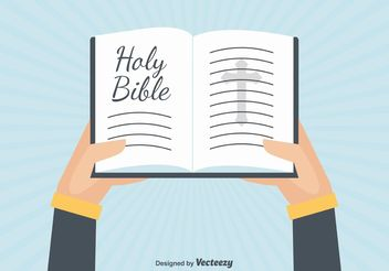 Open Bible Illustration - Free vector #149495