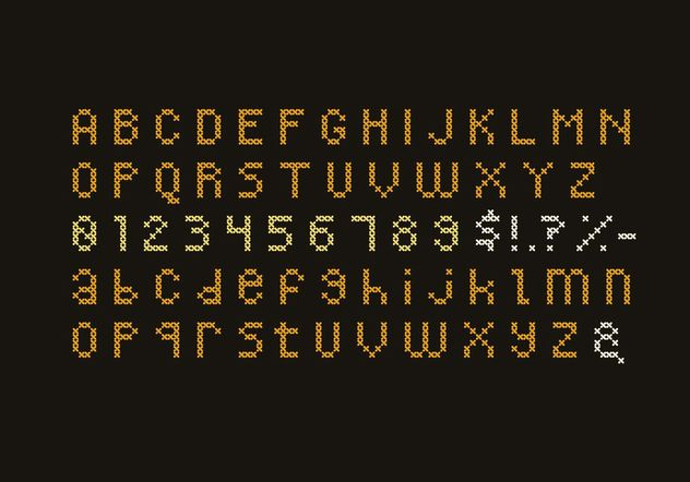 Cross Stitch Alphabet Set - Free vector #149595