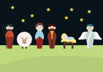 Manger scene / Nativity scene - Kostenloses vector #149615