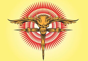 Skull Cross Vector Artwork - Free vector #149645