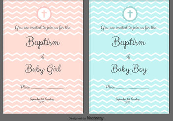 Baptism Vector Invitations - Kostenloses vector #149675