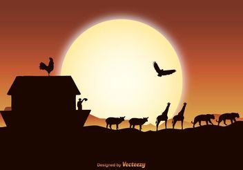 Noah's Ark Illustration - vector #149685 gratis