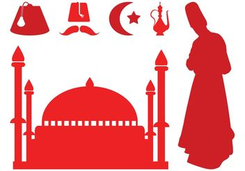 Turkish Silhouettes - vector gratuit #149705