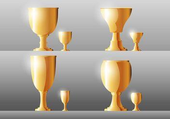Goblet Vectors - Kostenloses vector #149715