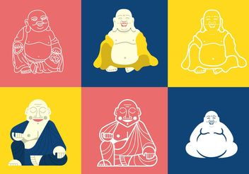 Fat Buddha Vectors - Free vector #149755