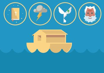 Noah Ark Vector Set - бесплатный vector #149795