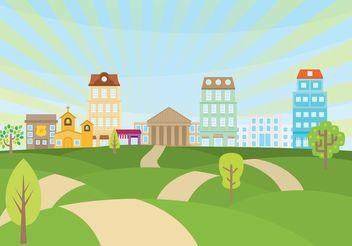 Rolling Hills Landscape Vector - бесплатный vector #149905