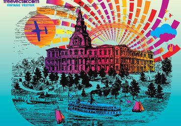 Vintage Postcard - vector gratuit #149925