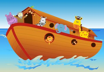 Vector Ark with Animals - vector #149975 gratis