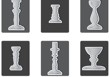 Various Silver Candlesticks Vector - бесплатный vector #149985