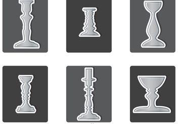 Various Silver Candlesticks Vector - Free vector #149985