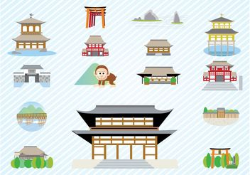 Japanese Architecture - Free vector #150055