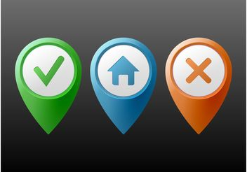 Location Markers - vector #150065 gratis