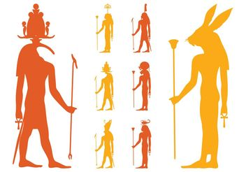 Egyptian Gods Set - Free vector #150115