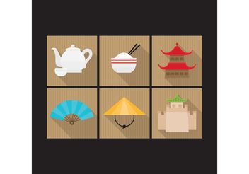Colorful Chinese Icons - Free vector #150165