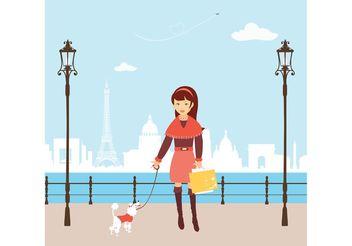 Free Vector Shopping Girl In Paris - Free vector #150275
