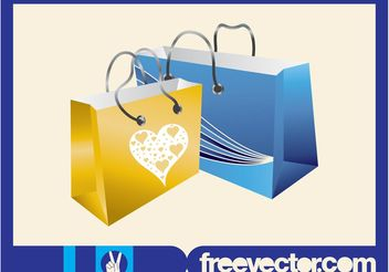 Shopping Bags Graphics - Free vector #150345