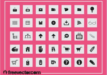 Square Icons Set - Kostenloses vector #150405