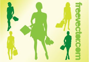 Shopping Girls Vectors - Free vector #150425