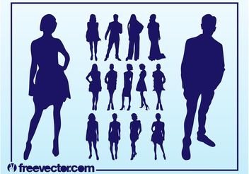 Vector Fashion Models - vector gratuit #150585