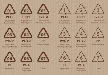 Recycling Codes - vector #150615 gratis