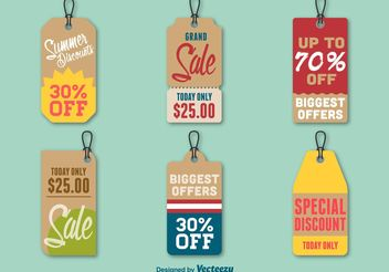Summer Discount Price Tags - бесплатный vector #150685