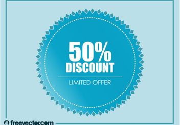 Discount Badge Vector - vector #150705 gratis