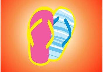 Flip Flops Vector - vector #150725 gratis