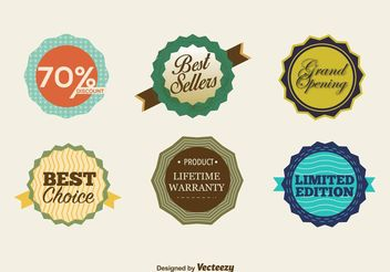 Best Seller Retro Badges - Free vector #150745