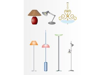 Lamps And Lights - бесплатный vector #150855
