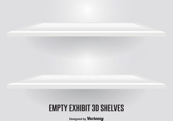 Modern Vector Shelves - vector gratuit #150905