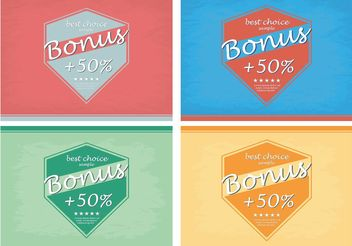 Bonus Best Choice Vector - Free vector #151005