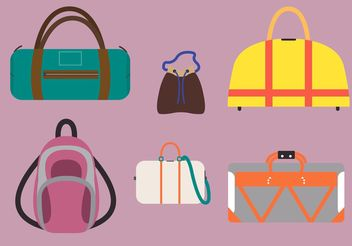 Illustration of Various Bag Vectors - Free vector #151015
