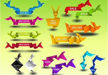 Sale Ribbon Graphics - vector #151035 gratis