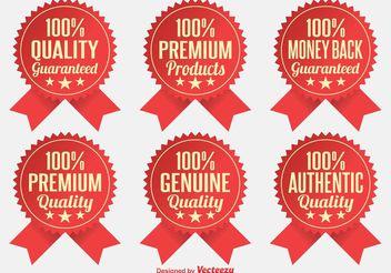 Premium Quality Badges - Kostenloses vector #151065