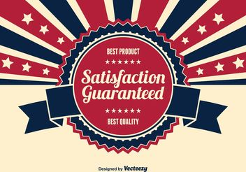 Satisfaction Guaranteed Illustration - Free vector #151105