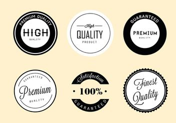 Simple Vector Labels - Free vector #151125