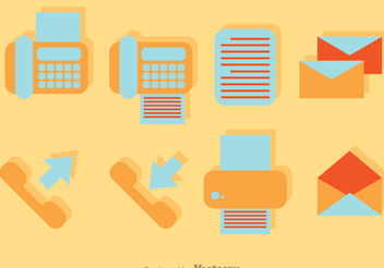 Vector Office Flat icons - vector #151735 gratis