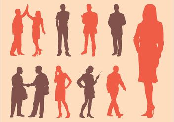 Vector Business Silhouettes - Free vector #151775