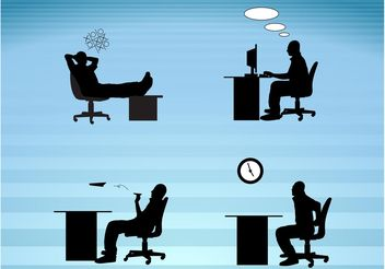 Work Day Silhouettes - vector gratuit #151795